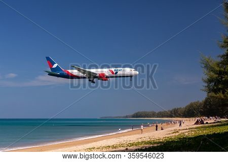 Phuket - Thailand; February 16, 2019: Azur Air Is A Charter Airline And Former Regional Airline In R