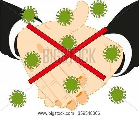 Greeting Handshake And Danger Of The Contamination Coronavirus