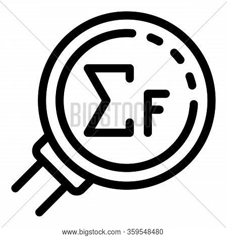 Gravity Magnifier Icon. Outline Gravity Magnifier Vector Icon For Web Design Isolated On White Backg