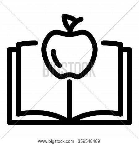 Apple Book Gravity Icon. Outline Apple Book Gravity Vector Icon For Web Design Isolated On White Bac