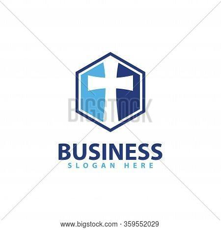 Cross Logo Template Design Vector Illustration Icon