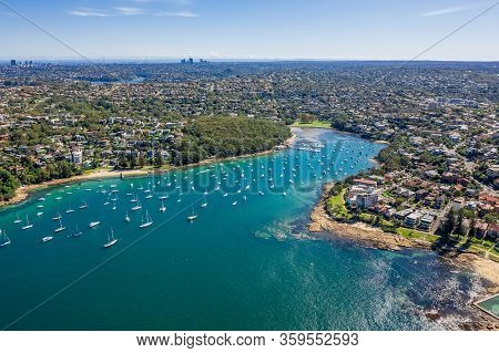 Aerial View On Reef Bay, Sydney, Australia.