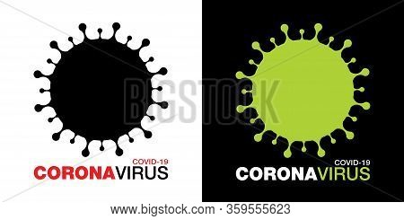 Coronavirus Covid-19 Icon Set. Novel Coronavirus 2019-ncov Symbol. Stop Coronavirus Infection. Label