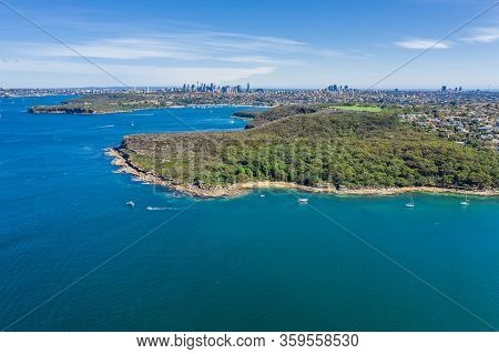 Aerial View On Dobroyd Head, Sydney, Australia.
