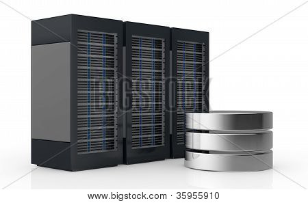Concept Of Computer Server And Data Storage