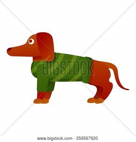 Dachshund Sweater Icon. Cartoon Of Dachshund Sweater Vector Icon For Web Design Isolated On White Ba