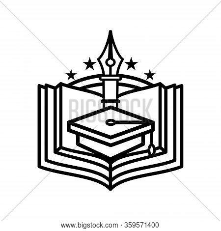 University Badge Or Symbol. Vector Logo Of Business Quality For College Emblem Identity. Illustratio