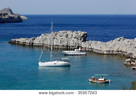St Paul's Bay, Lindos, Rhodes