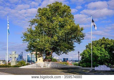 Tallinn, Estonia - August 2, 2019: Sightseeing Of Tallinn. Harjumae Park - A Picturesque Park In The