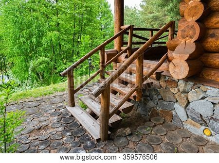 Wood Floors, Natural Wood Staircase From The Outside