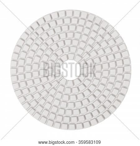 Diamond Flexible Abrasive Disc For Grinding Machine Isolated On White Background