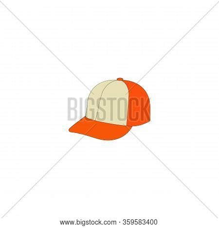 Baseball Cap Icon. Flat Illustration Of Baseball Cap Vector Icon For Web On White Background