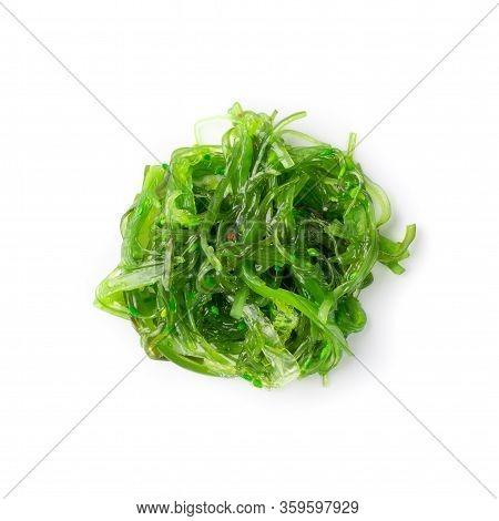 Chukka Seaweed Salad Isolated On White Background