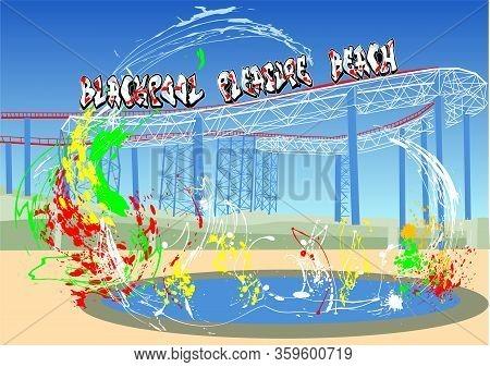 Blackpool Pleasure Beach Abstaract Multicolor Vector Background