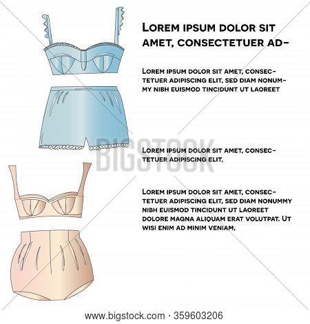Feminine Silk Lingerie Collection With Text Socila Media Post.