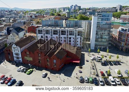Stavanger, Norway - June 04, 2010: Aerial View To The Modern And Historical Buildings In Stavanger,