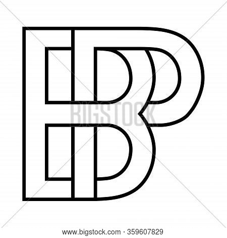 Logo Sign Bp Pb Icon Sign Two Interlaced Letters B And P Vector Logo Bp, Pb First Capital Letters Pa