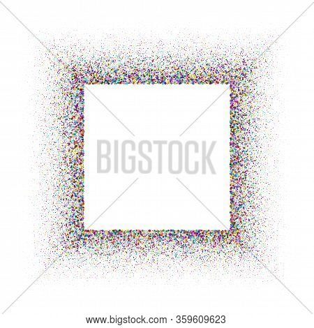 Color Glitter Texture For Background. Shiny Flickering Sparkles Pattern