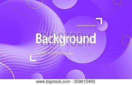 Purple Background. Fluid Flow. Landing Page. 3d Fluid Poster. Abstract Flow. Trendy Poster. 3d Fluid