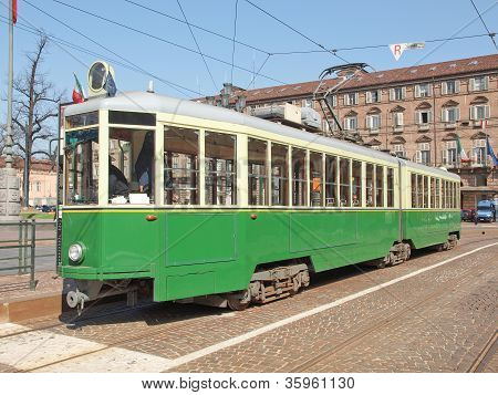 Old tram in Turin