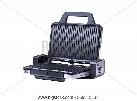 New Black Barbecue Over White Background. Barbecue!