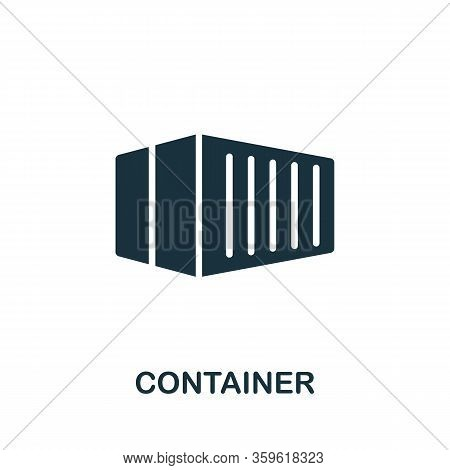 Container Icon. Simple Illustration From Cargo Collection. Creative Container Icon For Web Design, T