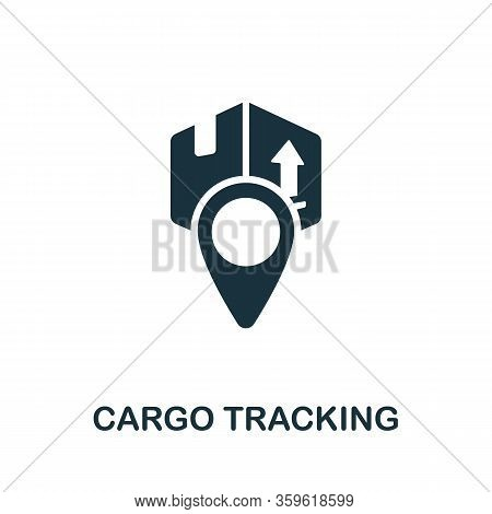 Cargo Traking Icon. Simple Illustration From Cargo Collection. Creative Cargo Traking Icon For Web D