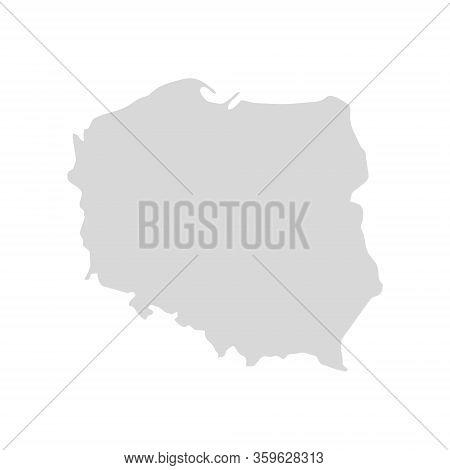 Poland Country Vector Map Shape. Krakow Europe Poland Region World Map