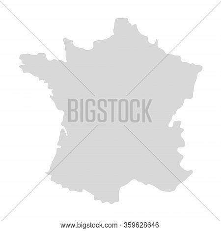 France Vector Map Icon. Paris French Silhouette Region France Contour Map Isolated