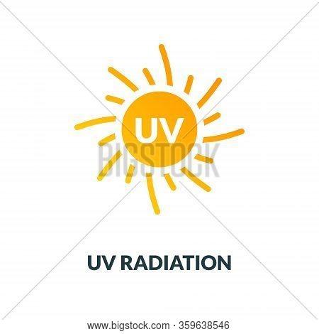 Uv Radiation Sun Block Icon. Solar Ultraviolet Uv Radiation Logo