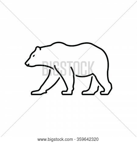 Black Line Icon Forbear Omnivores Badge Mammal Fauna Predator Wild Nature Animal Jungle Wildlife Zoo