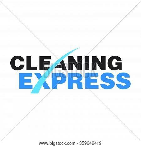 Modern And Sleek Cleaning Express Logo Wordmark