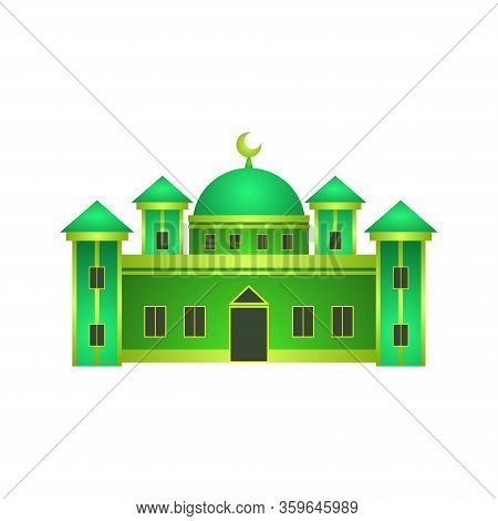 Illustration Of A Mosque Building With A Dome