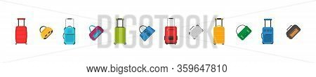 Plastic, Metal Suitcases, Backpacks, Bags For Luggage. Different Types Of Luggage. Large And Small S