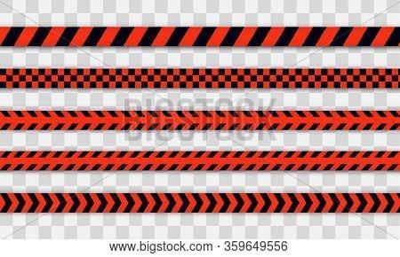 Red Police Line Warning Tape, Danger, Caution Tape. Covid-19, Quarantine, Stop, Do Not Cross, Border