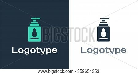 Logotype Personal Lubricant Icon Isolated On White Background. Lubricating Gel. Cream For Erotic Sex
