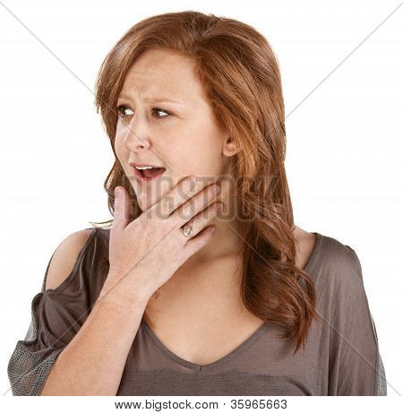Woman With Hand On Chin