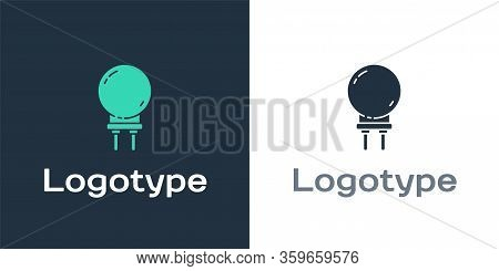 Logotype Light Emitting Diode Icon Isolated On White Background. Semiconductor Diode Electrical Comp