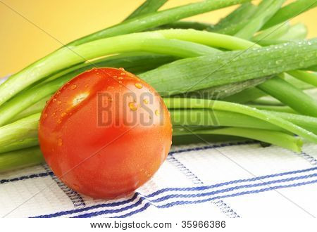 Tomato And Green Onions