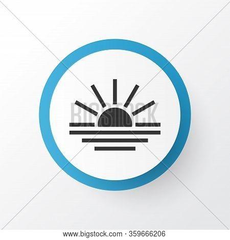 Sunset Icon Symbol. Premium Quality Isolated Sundown Element In Trendy Style.