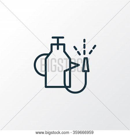 Pump Sprayer Icon Line Symbol. Premium Quality Isolated Pest Control Element In Trendy Style.