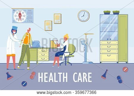 Healthcare Accessibility To Senior People. Age-related Diseases Diagnosis And Treatment. Professiona
