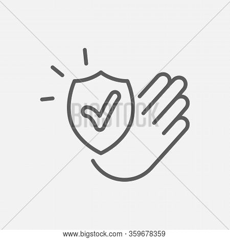 Reliability Icon Line Symbol. Isolated Vector Illustration Of Icon Sign Concept For Your Web Site Mo
