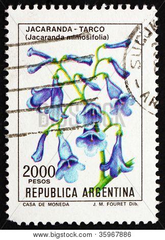 Postage stamp Argentina 1982 Blue Jacaranda, sub-tropical Tree