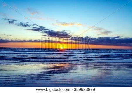 Spring Sunrise From Padre Island Near Corpus Christi, Texas