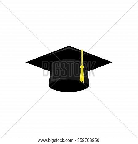 Graduation Hat Icon Isolated On White Background. Graduation Hat Vector Icon Modern And Simple Flat