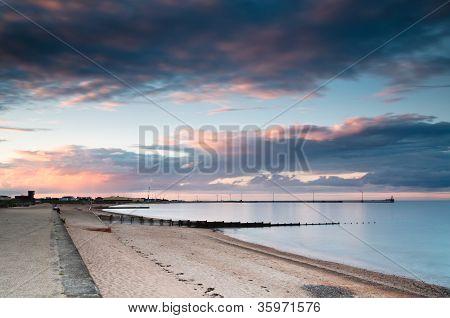 Blyth Harbour At Sunset