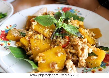Stir Fried Pumpkin, Stir Fried Vegetable With Egg