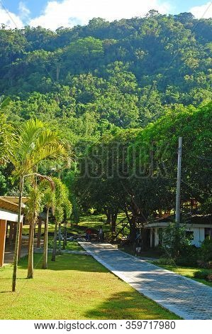 Batangas, Ph - July 30: Pathway At Ccf Mount Makiling Recreation Center On July 30, 2019 In Santo To