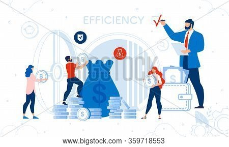 Business Success Audit And Finance Checkup Service. Huge Auditor Boss Chief Putting Efficiency Check